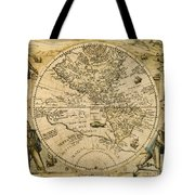 W. Hemisphere Map, 1596 Tote Bag