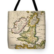 Map Of Great Britain, 1623 Tote Bag