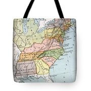 United States Map, C1791 Tote Bag