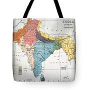 India: Map, 19th Century Tote Bag