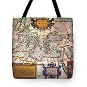 Map Of The Roman Empire Tote Bag