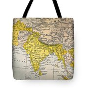 Asia Map, 19th Century Tote Bag
