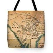 Underground Railroad Map Tote Bag