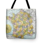 Map Of France, C1900 Tote Bag