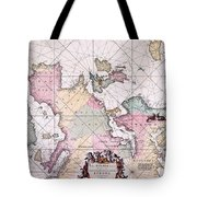 Map: European Coasts, 1715 Tote Bag