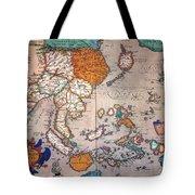 Pacific Ocean/asia, 1595 Tote Bag