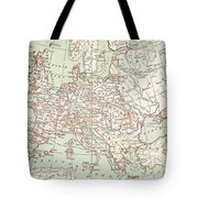 Map Of Europe, C1812 Tote Bag