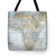 Map: Africa, 19th Century Tote Bag