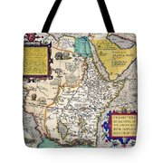 African Map, 1595 Tote Bag