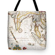 South Asia Map, 1662 Tote Bag
