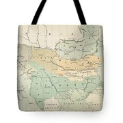 Balkan Map, 1885 Tote Bag