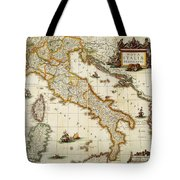 Map Of Italy, 1631 Tote Bag