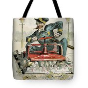 Police Corruption Cartoon Tote Bag
