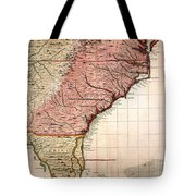 Colonial America Map, 1733 Tote Bag