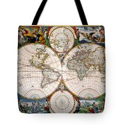 World Map, 17th Century Tote Bag