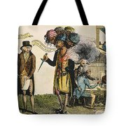 Cartoon: French War, 1798 Tote Bag