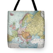 Map: Europe, 1885 Tote Bag