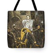 Benito Mussolini Cartoon Tote Bag