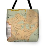 Jolliet: North America 1674 Tote Bag