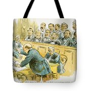 Litigation Cartoon Tote Bag