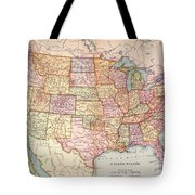 Map: United States, 1905 Tote Bag