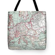 Map Of Europe, 12th Century Tote Bag