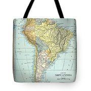 South America: Map, C1890 Tote Bag