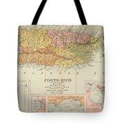 Map: Puerto Rico, 1900 Tote Bag