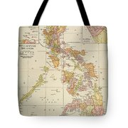 Map: Philippines, 1905 Tote Bag