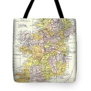 Map: Ireland, C1890 Tote Bag