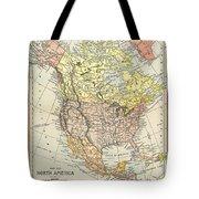 Map: North America, 1890 Tote Bag