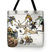 China: Anti-west Cartoon Tote Bag