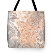 Spain: Madrid Map, C1920 Tote Bag