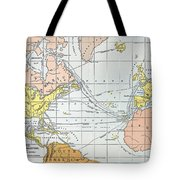 Map: Atlantic Voyages Tote Bag