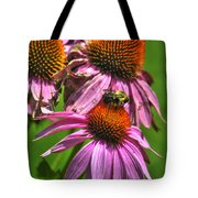 01 Bee And Echinacea Tote Bag