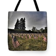 01 Flags For Fallen Soldiers Of Sep 11 Tote Bag