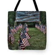 010 Flags For Fallen Soldiers Of Sep 11 Tote Bag