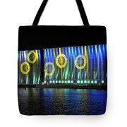 011 Grain Elevators Light Show 2015 Tote Bag