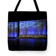 013 Grain Elevators Light Show 2015 Tote Bag