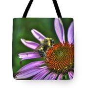 02 Bee And Echinacea Tote Bag