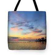 0201 Sunset Wisps On Sound Tote Bag