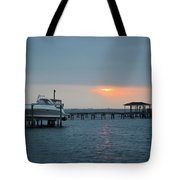 0204 Faint Sunrise On Sound Tote Bag