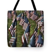 03 Flags For Fallen Soldiers Of Sep 11 Tote Bag