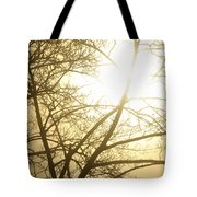 03 Foggy Sunday Sunrise Tote Bag