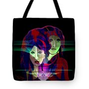 036 Two Faces Of  Night A V Tote Bag