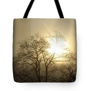 04 Foggy Sunday Sunrise Tote Bag