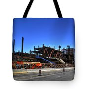 04 Medical Building Construction On Main Street Tote Bag