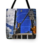 04 W Chipp And Delaware Construction  Tote Bag