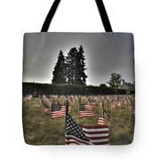 05 Flags For Fallen Soldiers Of Sep 11 Tote Bag