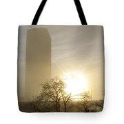 05 Foggy Sunday Sunrise Tote Bag